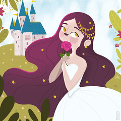 Princess (Ivy Nunes) Tags: princesa princess castle castelo fairy tale contodefadas fairytale dessin dibujo illustration ilustração ilustrador illustrator diseno teikna girl cute color art arte draw drawning