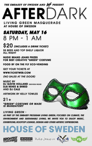 Green Masquerade Flyer