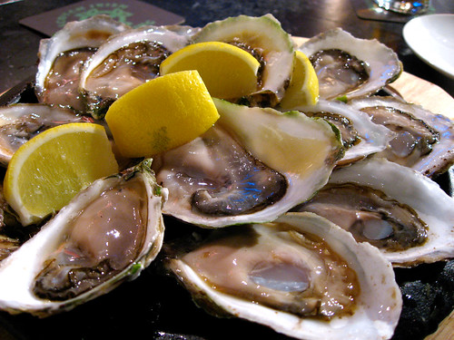 Of course, raw oysters were a must. They had only Malpeques that night.