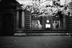 Overpaid and Oversexed (Adam Dimech) Tags: street city blackandwhite bw history film window ir town hall gallery display military australia melbourne victoria exhibition infrared townhall marines photographed digger seamen unitedstatesmarinecorps swanstonstreet r72 hoyar72 royalaustraliannavy irfilm citygallery infraredfilm melbournetownhall