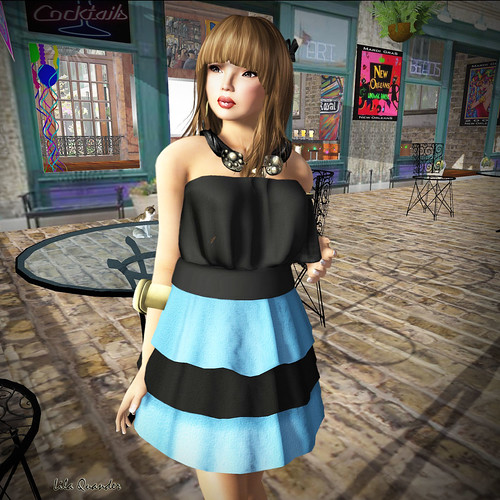 [GIEREH] - anelise dress blue