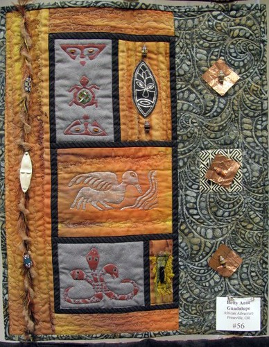 1st Annual Small Wonders Quilt Challenge:  #56 African Adventure