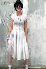 awesometownvintage sheer wedding dress (Slave to vintage) Tags: wedding white fashion vintage dress 50s sheer chiffron awesometownvintage