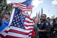 FlagProtest_16 (emilykslack) Tags: america riot flag protest police americanflag lsu paradegrounds