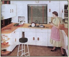 Retro Center City Philadelphia Kitchen with Formica and Linolium