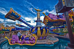 Magic Carpet (iceman9294) Tags: blue sky water carpet gold purple surreal disney fantasy waltdisneyworld magickingdom chriscoleman alladin magiccarpetride abigfave infinestyle iceman9294