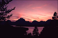 Sunset, Jackson Lake, Grand Tetons, Grand Teton National Park