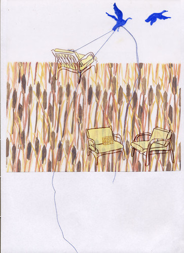 chair drawing :: fly me away