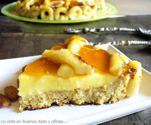 Almond ,apricot and marzipan tart
