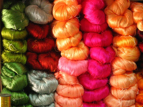 Stack of Dyed Wool