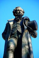Madrid. Estatua de Francisco de Goya.
