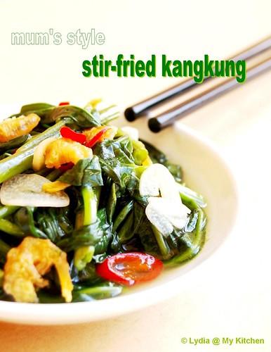 stir fried kangkung