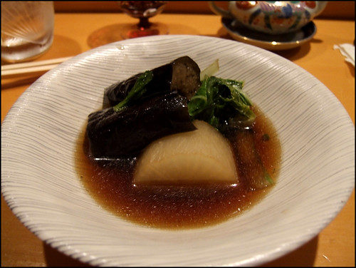 Kappa (San Francisco) - Daikon & Eggplant in Mushroom broth