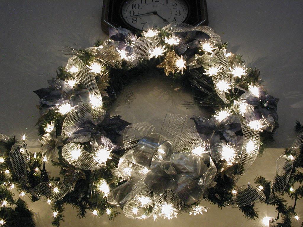 Silver Floral Wreath