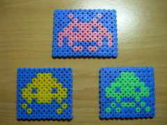 SPACE INVADERS (Garumiru) Tags: spaceinvaders llaveros hamabeads