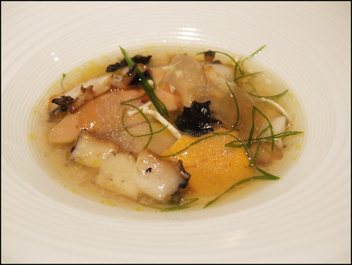 Manresa (Los Gatos) - Abalone and foie gras together, in a tidal pool