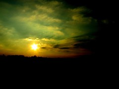 in flanders fields (vleervlinder) Tags: sky sun colors clouds wolken lucht zon kleuren weatherphotography