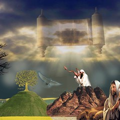 Judaic Life (ILANATREE) Tags: light sky sun tree bird art collage clouds photoshop goodness high meditate cs2 shepherd dove mountsinai religion happiness holy hidden giving montage mysterious jewish bible judaism spiritual ideas powerful meaning kabbalah torah treeoflife divinity godly shofar whitedove meditiation spriit