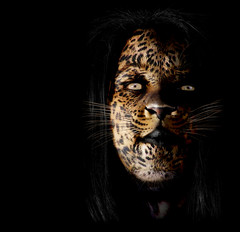 Leopardess (Josh Sommers) Tags: woman texture photoshop wrap human leopard metamorphosis weekendamerica leopardess mywinners abigfave