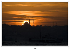 Together (mehmetakifguler) Tags: sunset istanbul mosque İstanbul günbatımı camii
