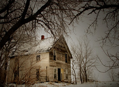 a deserted winter house (McMorr) Tags: old family winter house snow abandoned home rural interestingness decay farm country neglected eerie iowa spooky explore forgotten creativecommons weathered disused homestead discarded forsaken dilapidation deserted abused fallingapart creativenonfiction mcmorr
