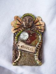 Polymer Clay Art Doll Pin
