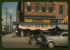 Public domain photo of meat shop