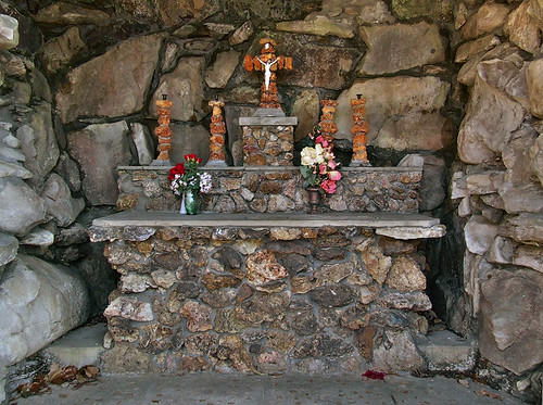Saint Mary of the Barrens Roman Catholic Church, in Perryville, Missouri, USA - grotto altar