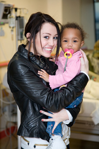 Miley Cyrus Visits Children's National by Children's National Medical Center.
