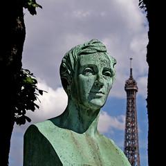 bust and the Eiffel Tower (Leo Reynolds) Tags: cemetery canon eos iso100 verdigris 60mm f11 30d 1ev hpexif 0002sec leol30random cemeterypassy xsquarex xleol30x xratio1x1x xxx2008xxx grouppariscemeteries
