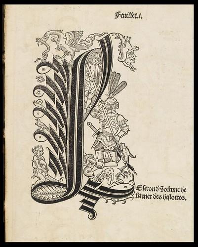 La mer des histoires 1491 Lettrine