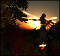 Blue (Kracht Strom) Tags: blue sky sun art reflections photography fly 3d screenshot wings magic sl fairy fantasy secondlife mystical capture untouched fairys strom elves wl windlight straylight kracht bluelion seconlife slwindlight secondlifewindlight viritual krachtstrom viritualworld purewindlight