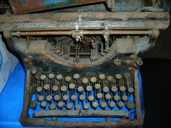 vintage & rusty (eyereact) Tags: old typewriter vintage rust antique rusty disney crusty hiddenmickey findingmickey