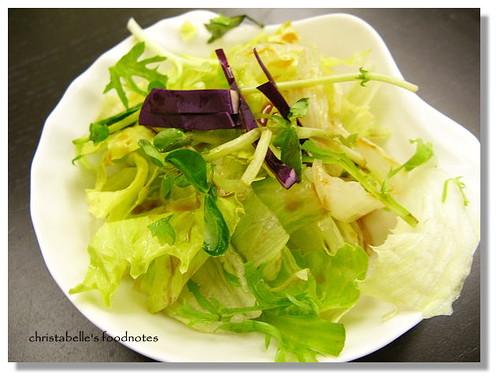 梭子生魚片丼附沙拉