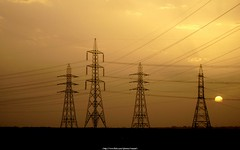 Grid Station (Waseef Akhtar) Tags: sunset sun sunlight clouds desert sony dying saudiarabia ksa gridstation sonydscs650