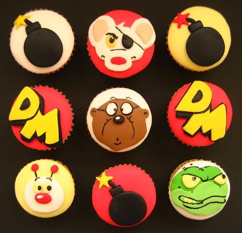 birthday cupcakes cartoon. DANGER MOUSE CUPCAKES!