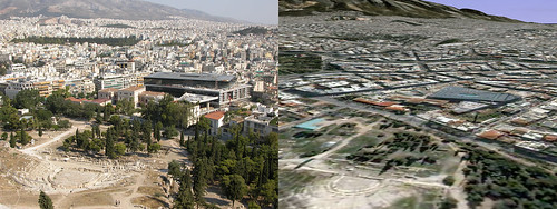 Google Earth vs. Reality - Athens and the new Acropolis Museum