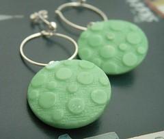 Swinging Down the Kings Road (bbel-uk) Tags: green vintage silver 60s jewellery button earrings jewelery bbel