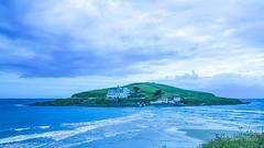 Burgh on a Brrr Day (JKmedia) Tags: bigbury burghisland sea meet island blue beach coast devon boultonphotography 2016 overcast cloudy tide high