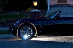 Flashy Wheel (Livingstudios) Tags: wheel aluminum dusk flash solstice pontiac starburst blog365