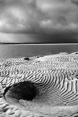 Northumberland Dunes 01 (austin054) Tags: sea sky blackandwhite beach contrast landscape coast sand pattern shell dramatic northumberland ripples anawesomeshot