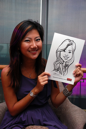Caricature live sketching for TLC - 3