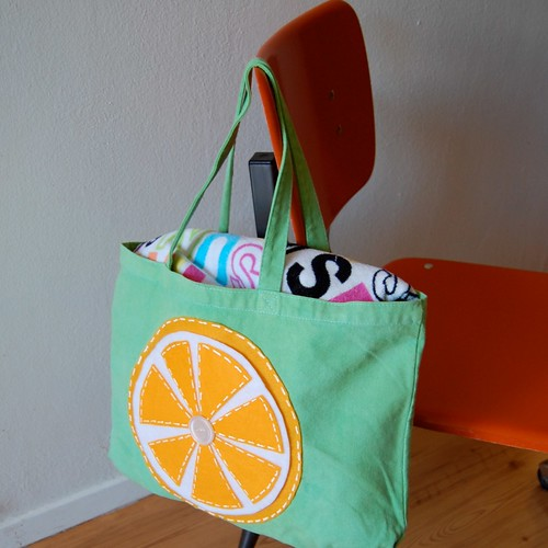 Citrus Slice Tote Bag