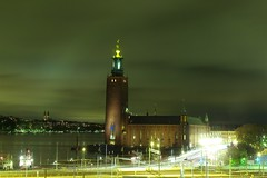 Stockholm City Hall at night. (Maggie Osterberg) Tags: leica longexposure nightphotography travel night sweden stockholm m8 myfavorites voigtländer stadshuset maggieo pantscentral eurotrip2007 coolestphotographers voigtländer35mmultronf17