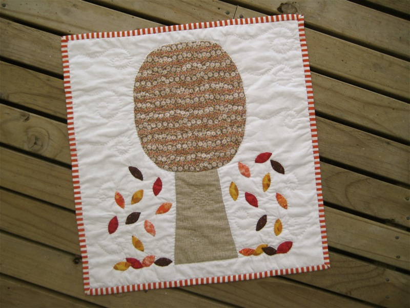Autumn Tree quilt for the Four Seasons quilt swap