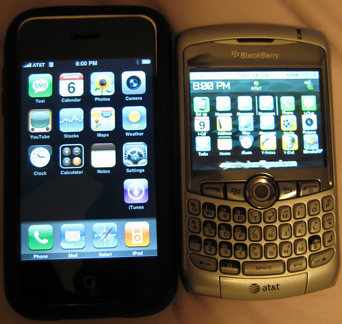 iPhone vs. Blackberry iPhone Theme