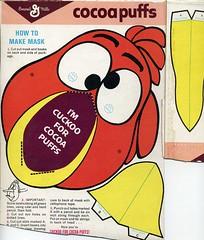 Sonny the Cuckoo BIrd mask