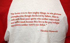 Teddy Roosevelt Quote T-Shirt