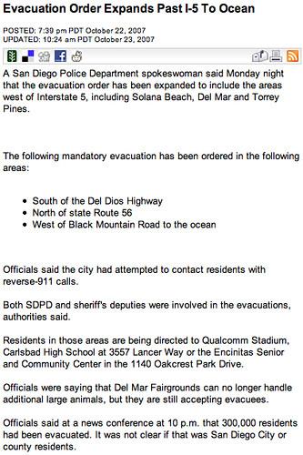 Evacuated