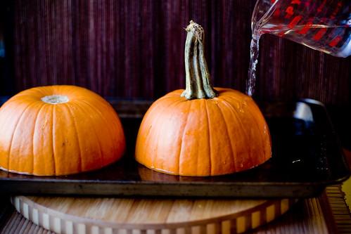 Preparing Pumpkin for Roasting
